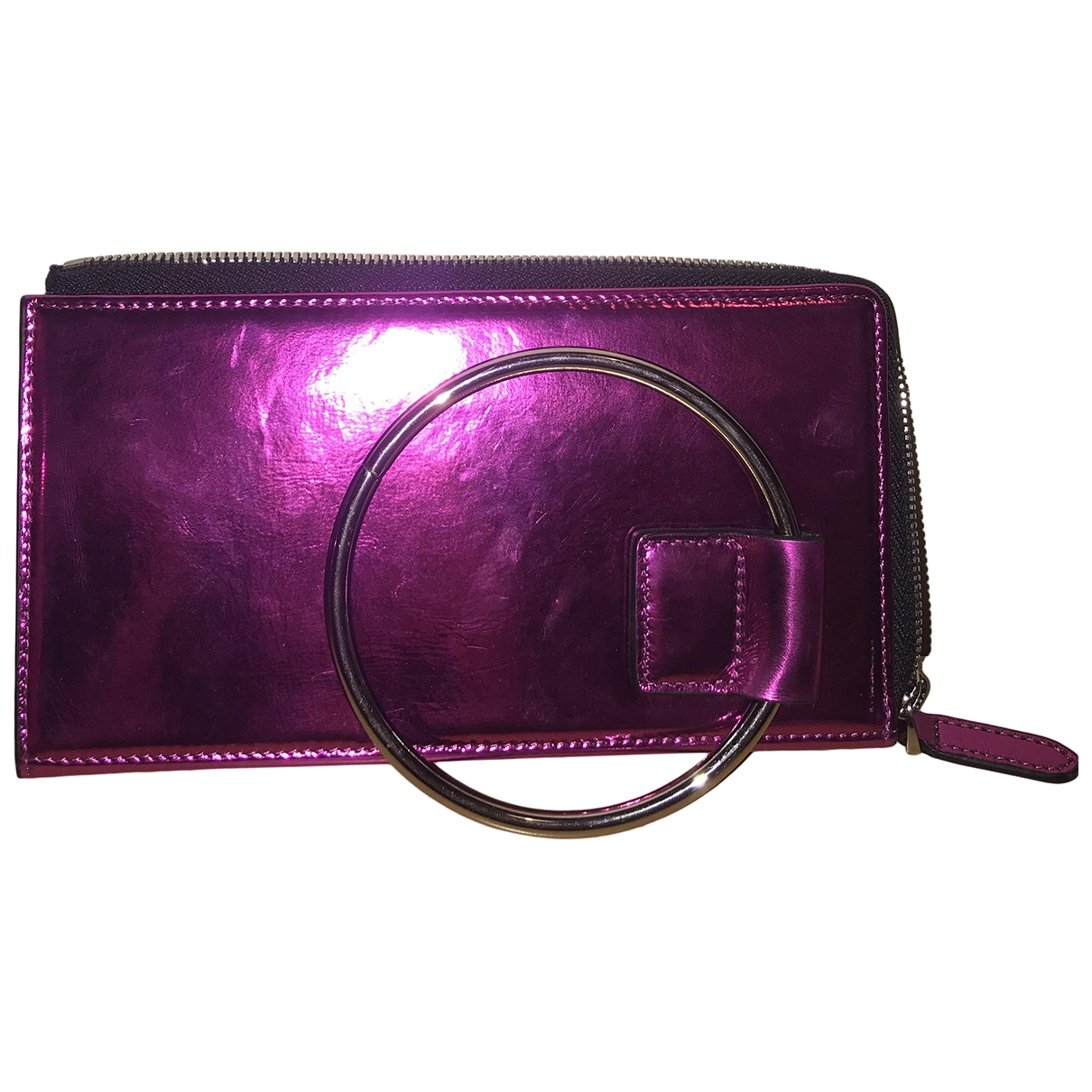 Mo&co - Pochette   pour femme en cuir verni - metallise