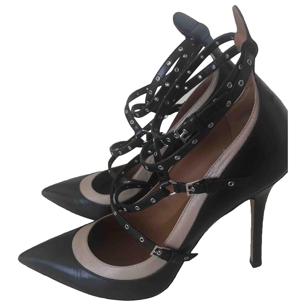 Valentino Garavani - Escarpins Rockstud pour femme en cuir - noir
