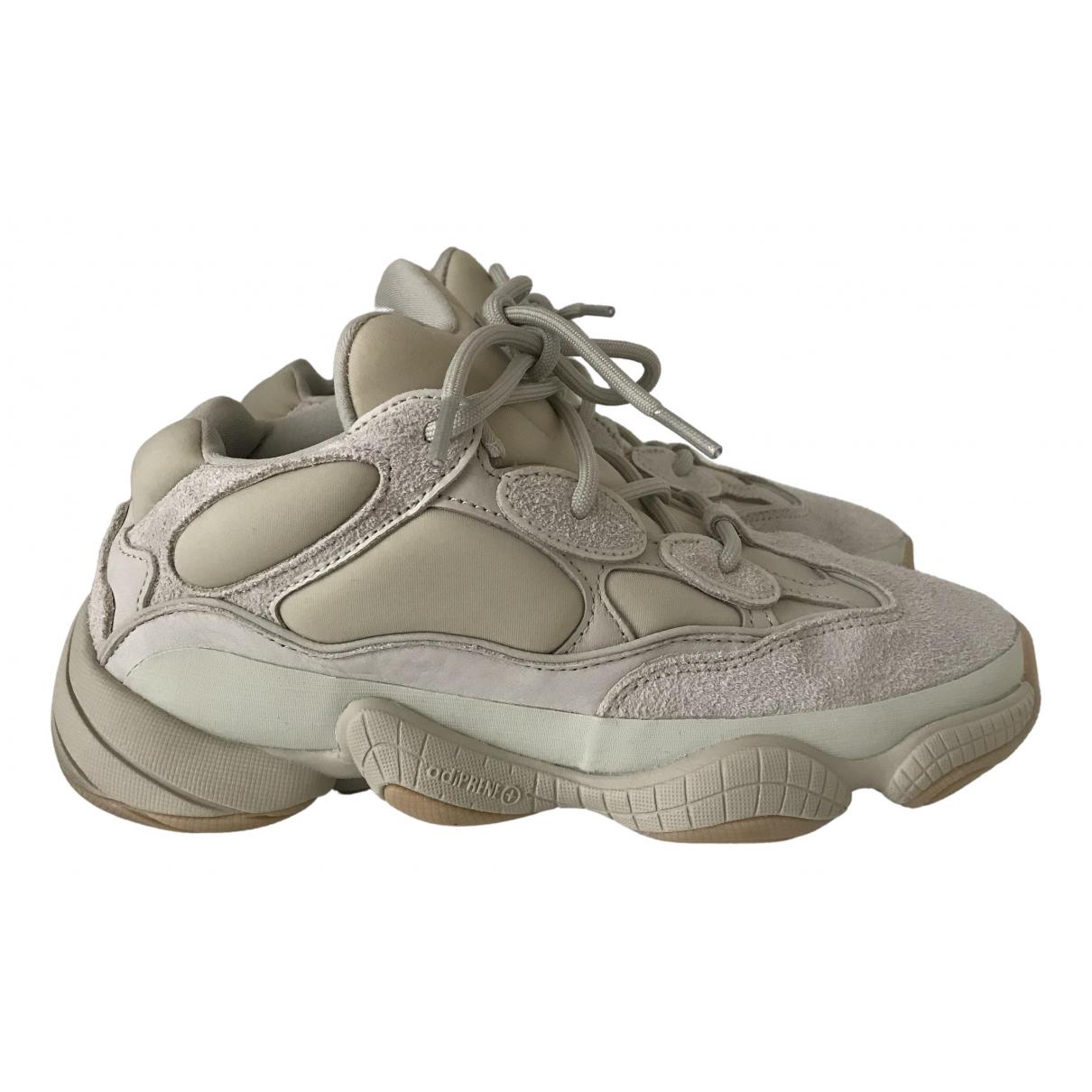 Yeezy X Adidas - Baskets 500 pour femme en caoutchouc - beige