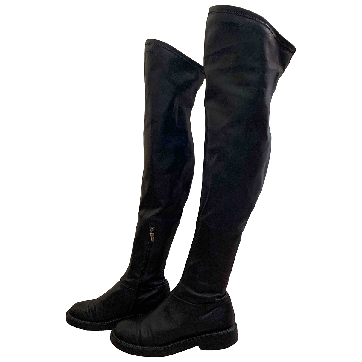 Greymer \N Black Leather Boots for Women 41 EU