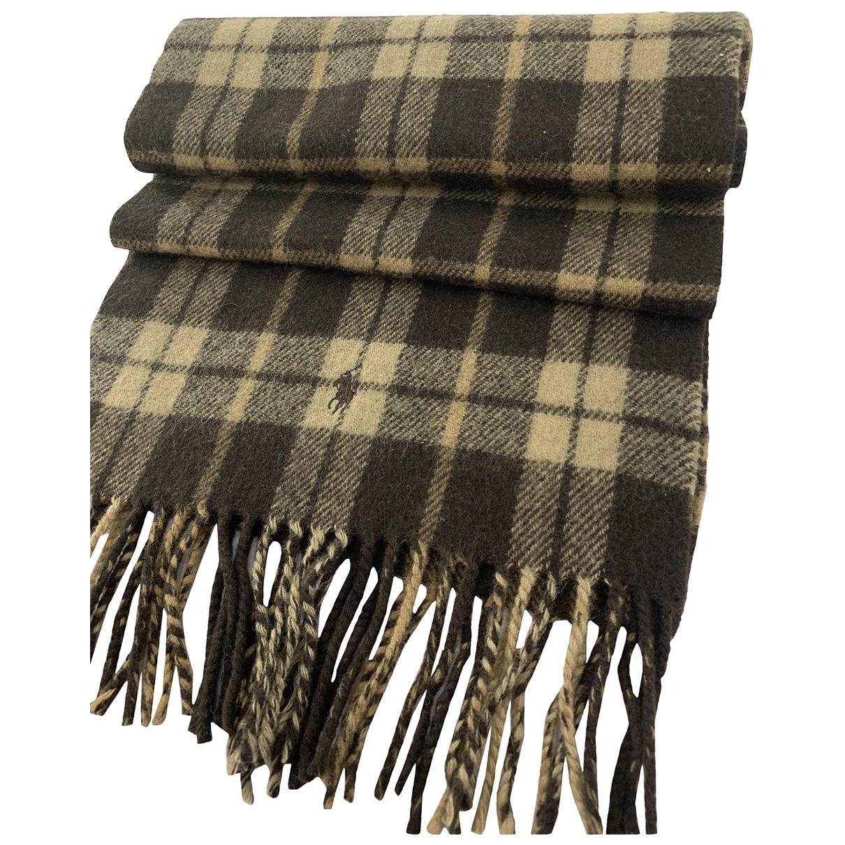 Polo Ralph Lauren - Foulard   pour femme en laine - marron