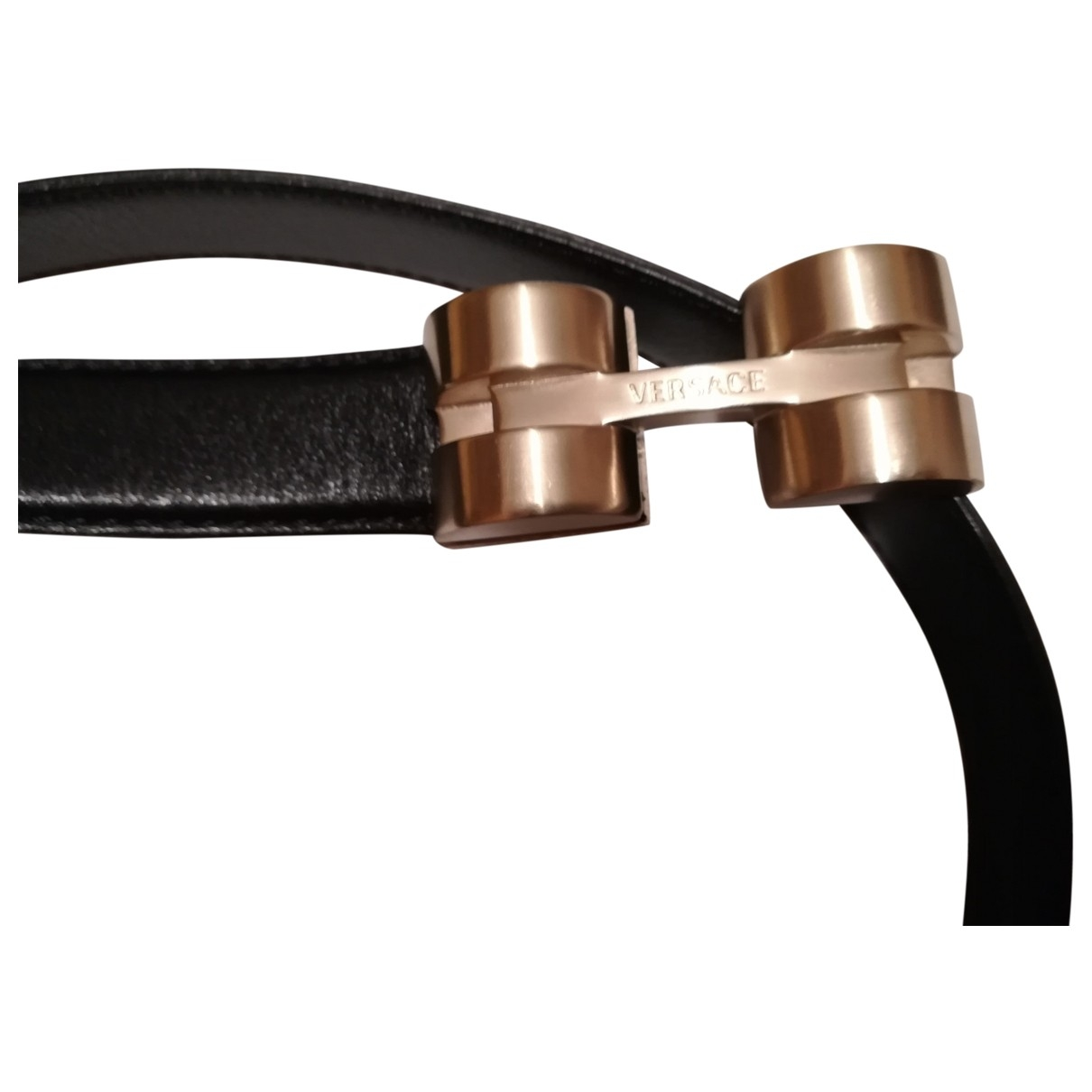 Versace \N Black Leather belt for Women M International
