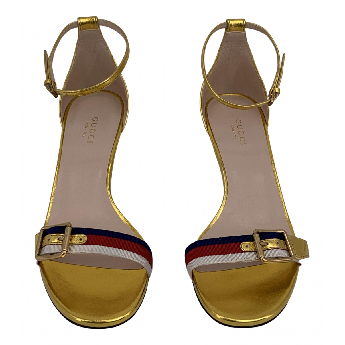 Gucci \N Sandalen in  Gold Leder