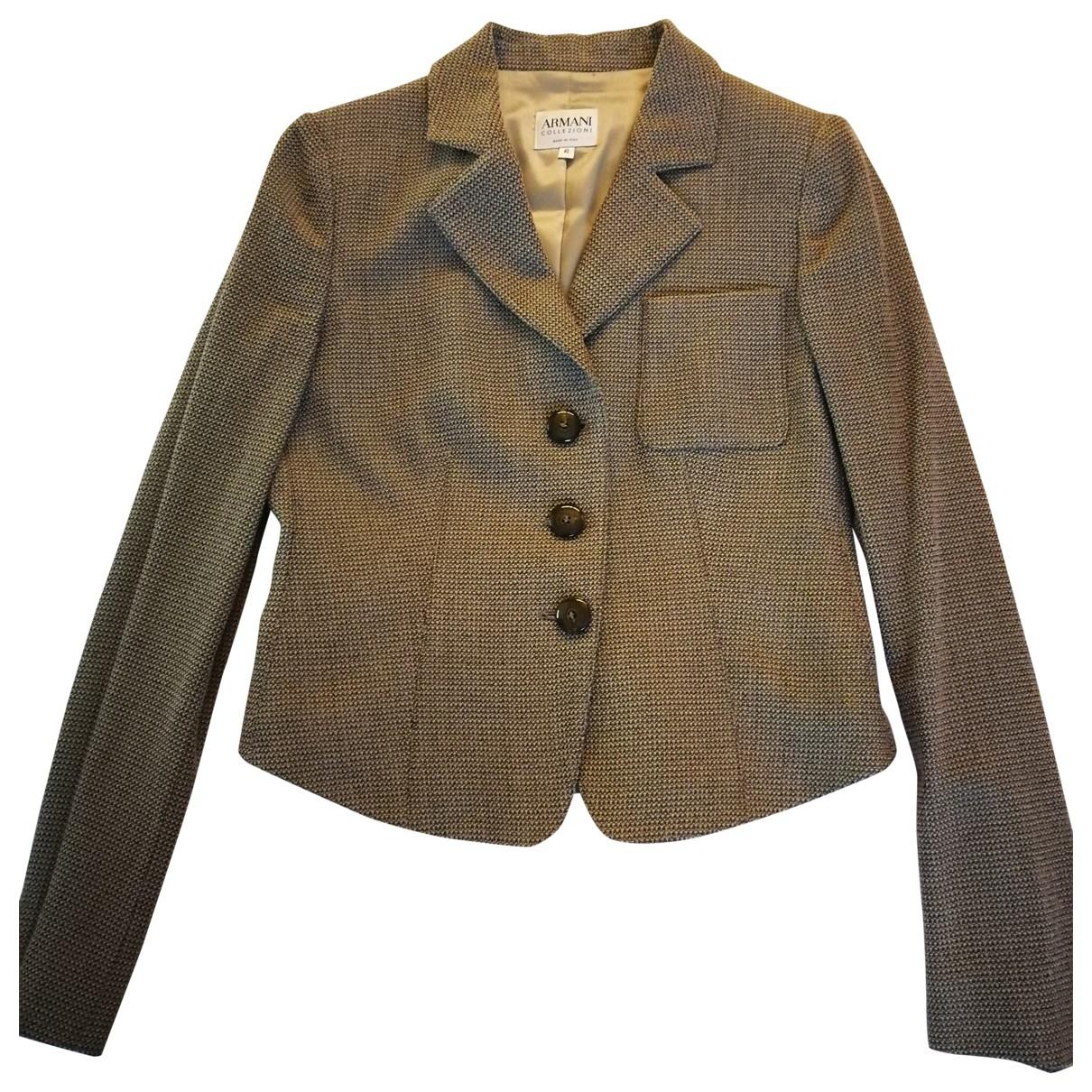 Armani Collezioni - Veste   pour femme en laine - marron