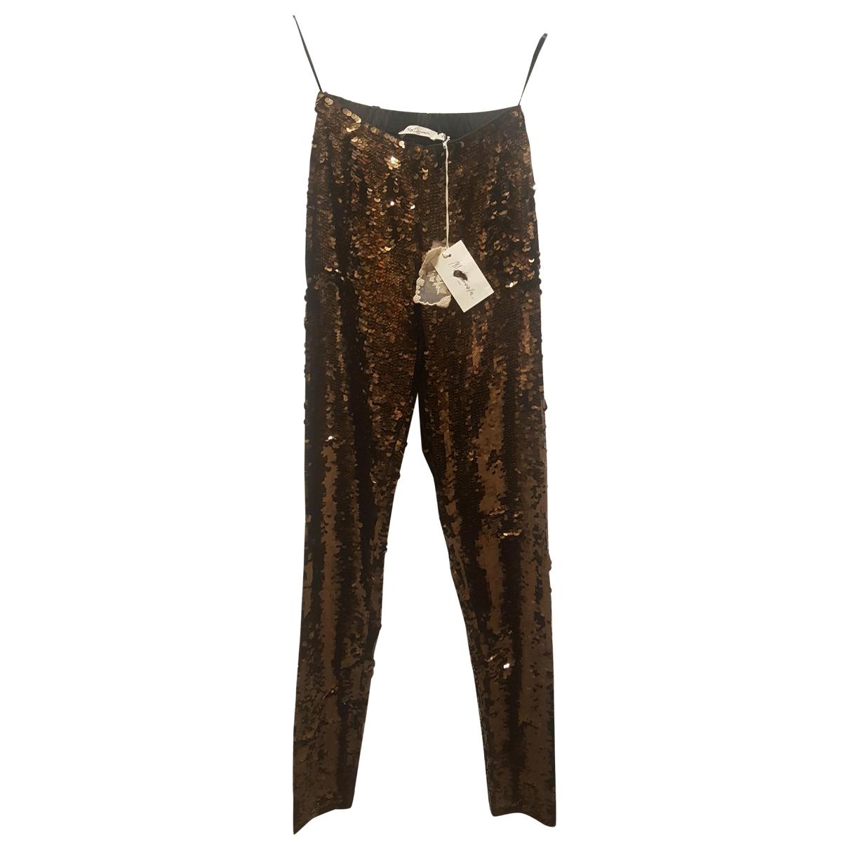 Mes Demoiselles ... \N Gold Trousers for Women 2 0-5