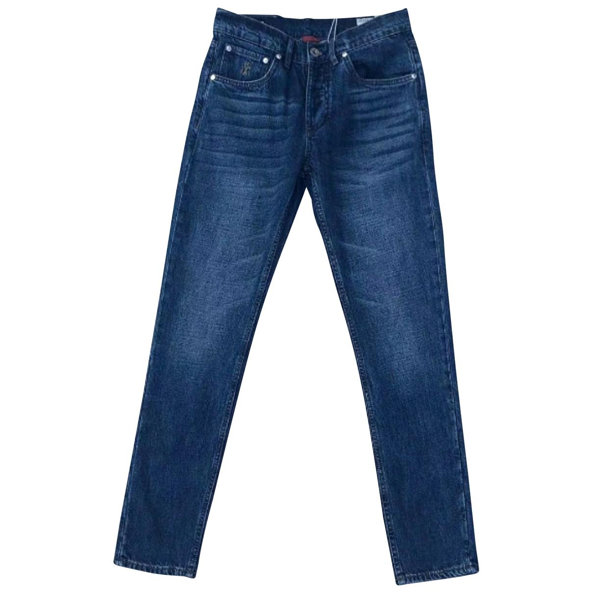 Brunello Cucinelli \N Blue Cotton Jeans for Men 46 FR