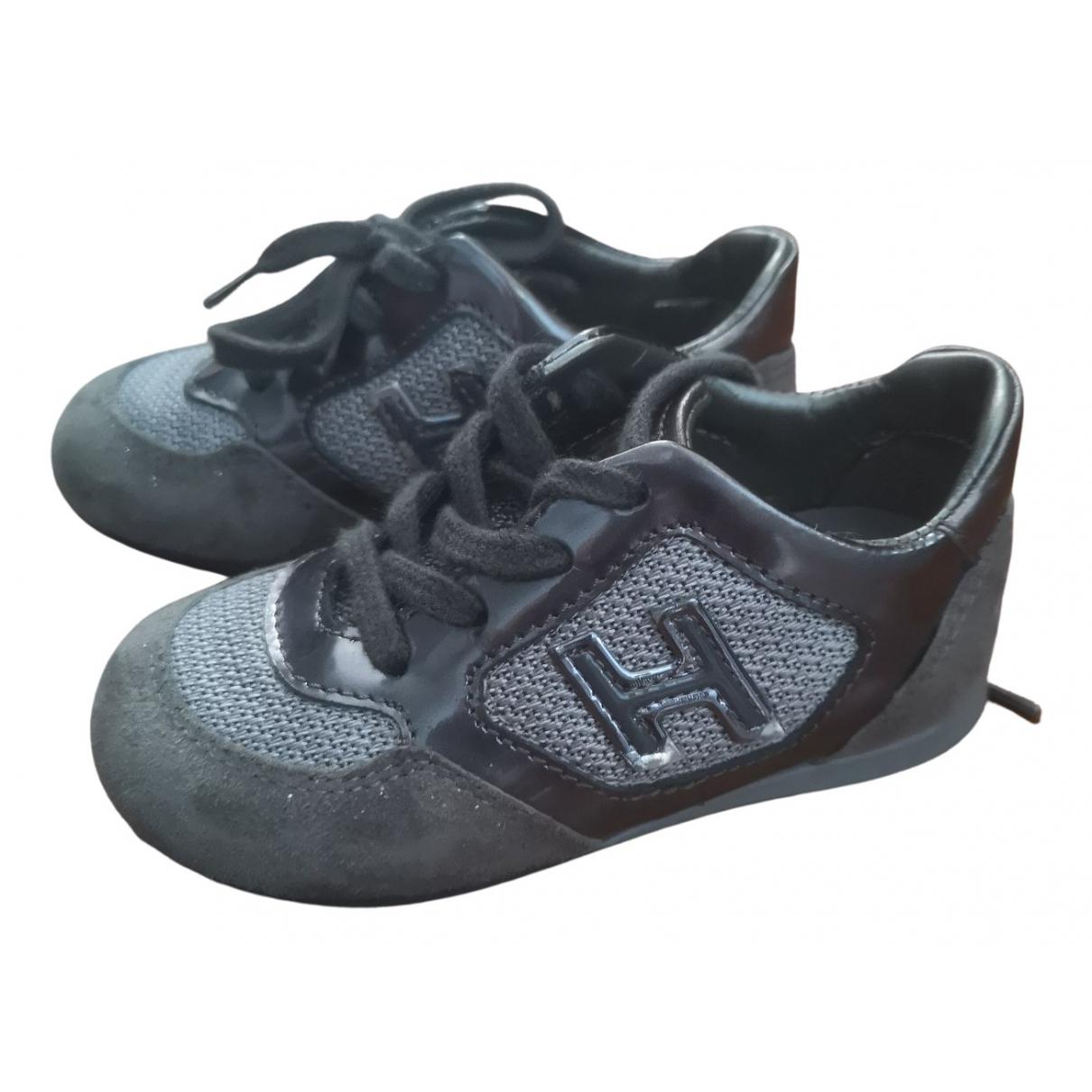 Hogan - Baskets   pour enfant en cuir - gris