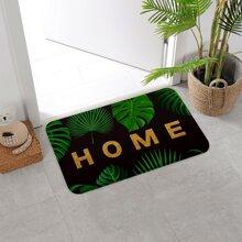 1pc Leaf Print Carpet
