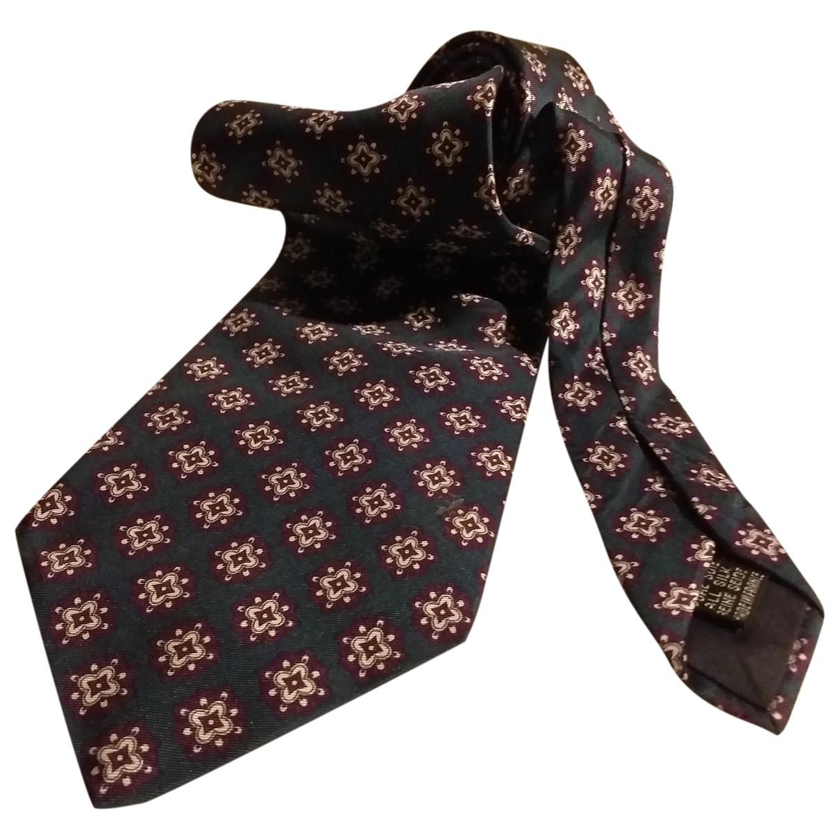 Carven - Cravates   pour homme en soie - vert