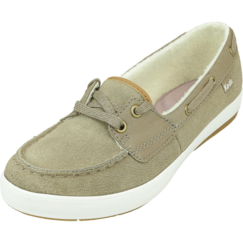 Keds Women's Charter Suede Shearling Walnut Ankle-High Flat Shoe - 5.5M