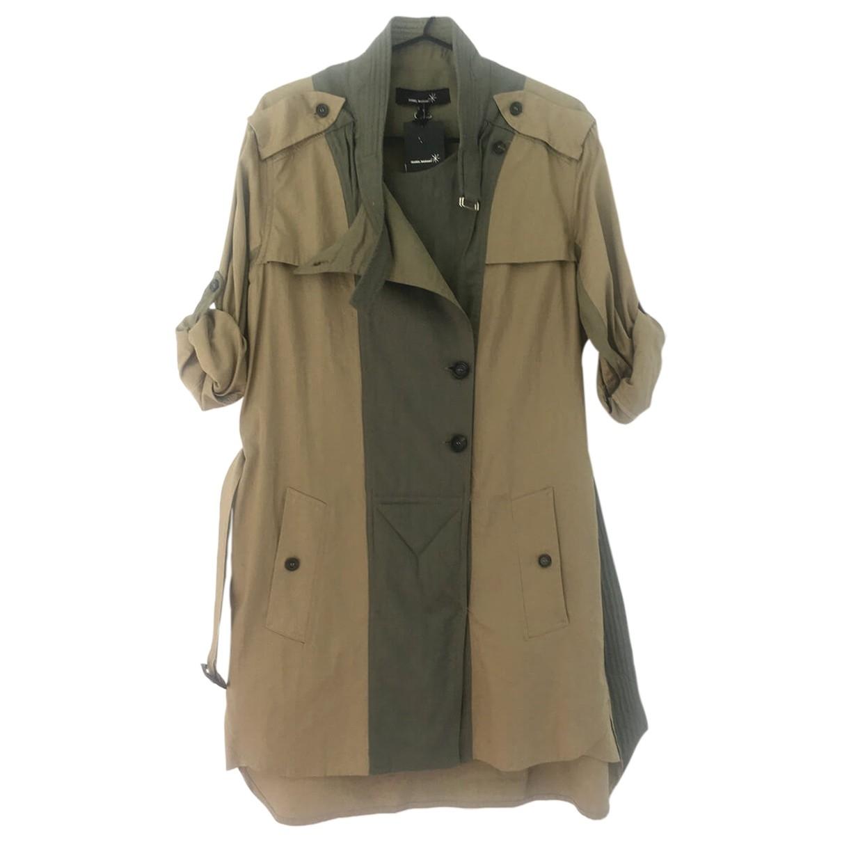 Isabel Marant \N Khaki Cotton dress for Women 1 0-5