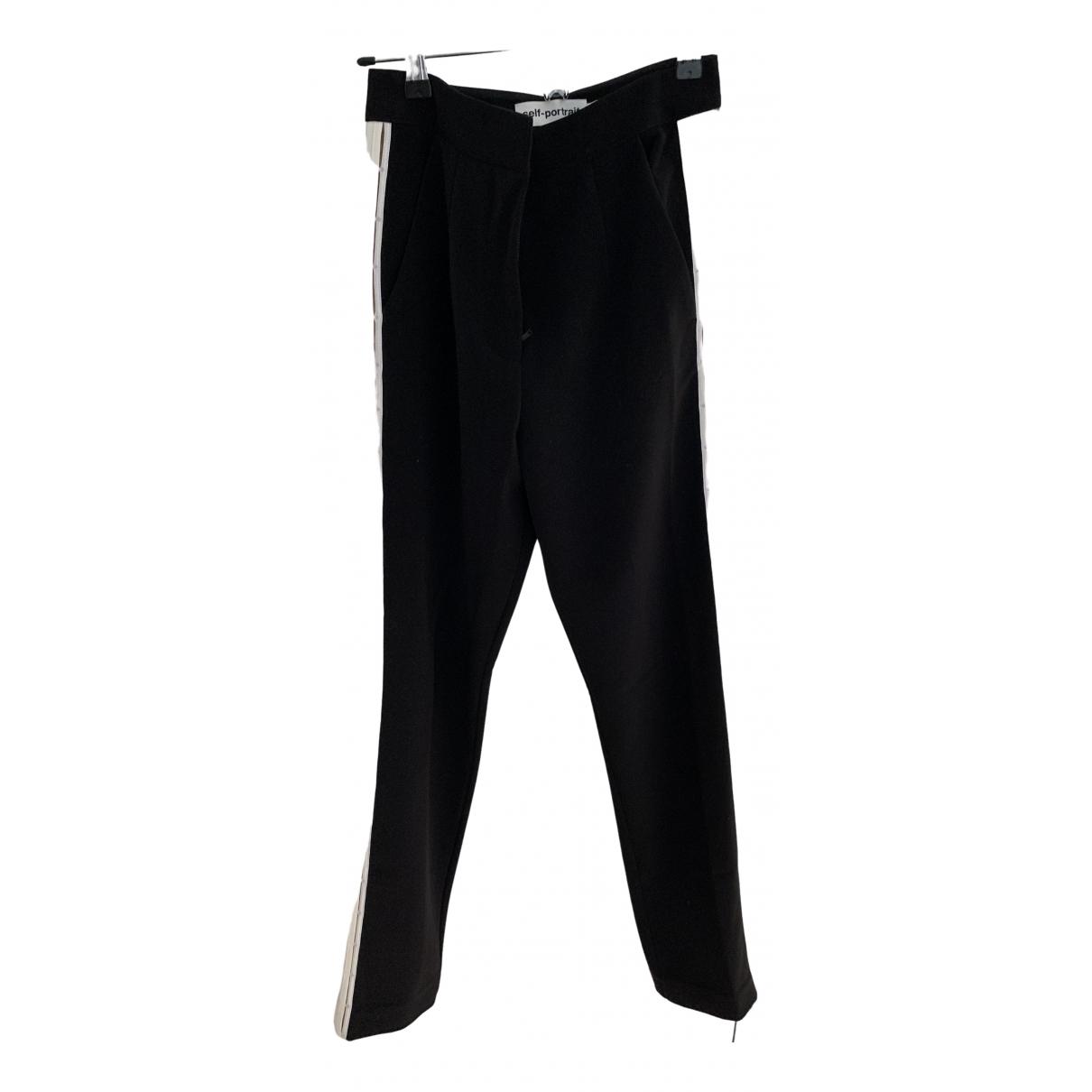 Self Portrait \N Black Trousers for Women 6 UK