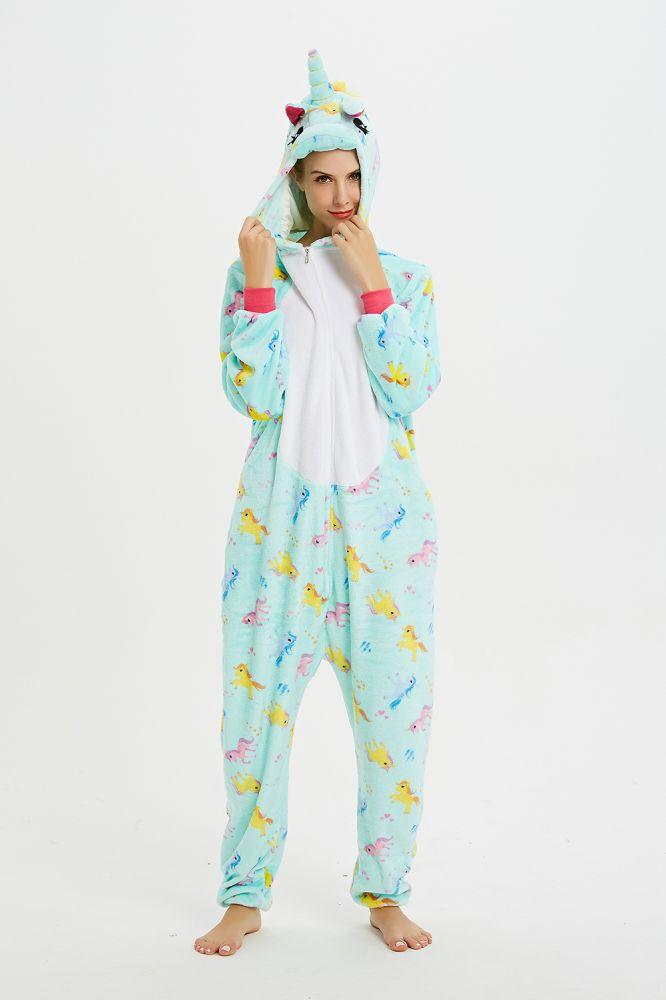 New Adult Animal Printing Pegasus Pajamas Onesie For Women Sleepwear  Cosplay Leisure Wear