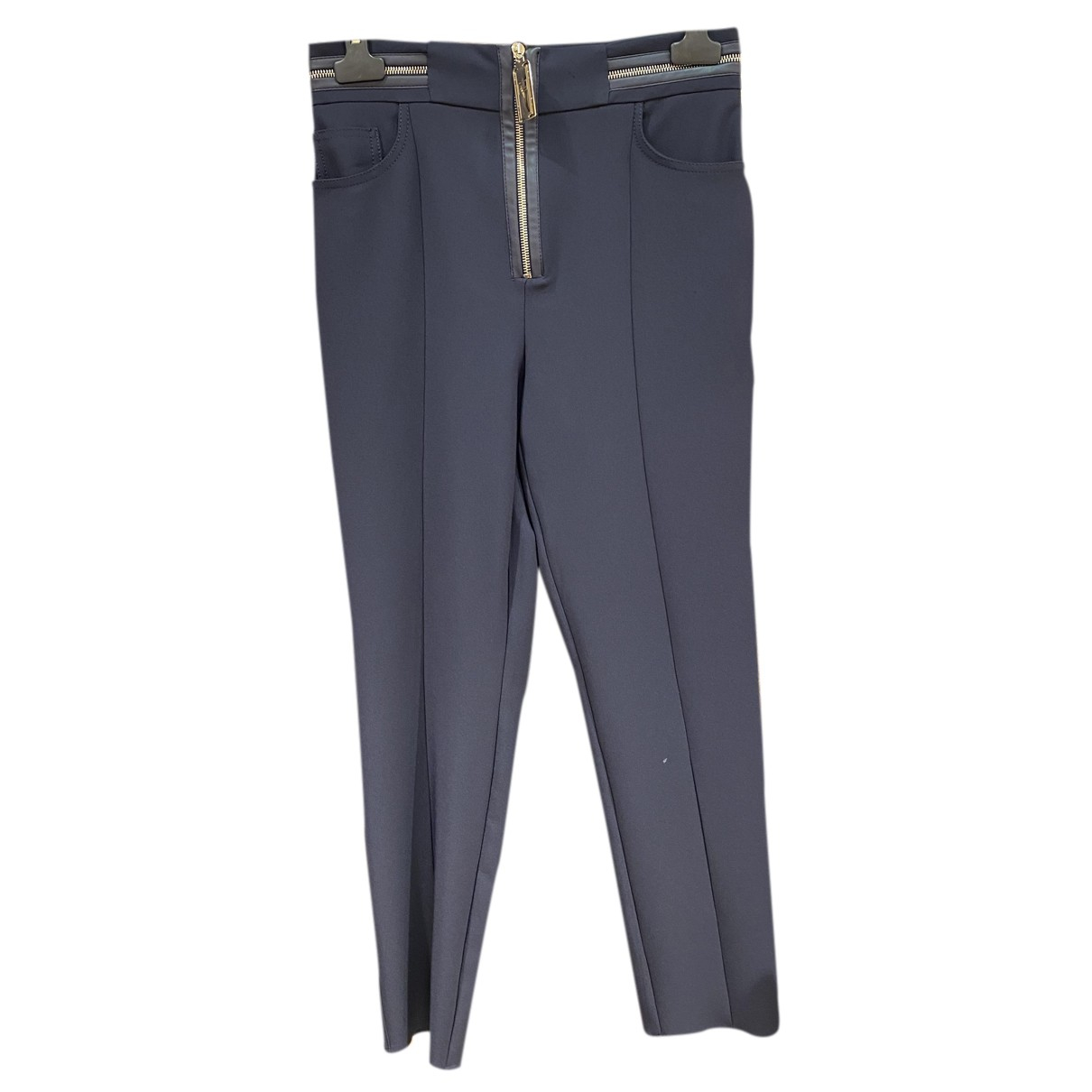 Elisabetta Franchi N Blue Trousers for Women 44 IT