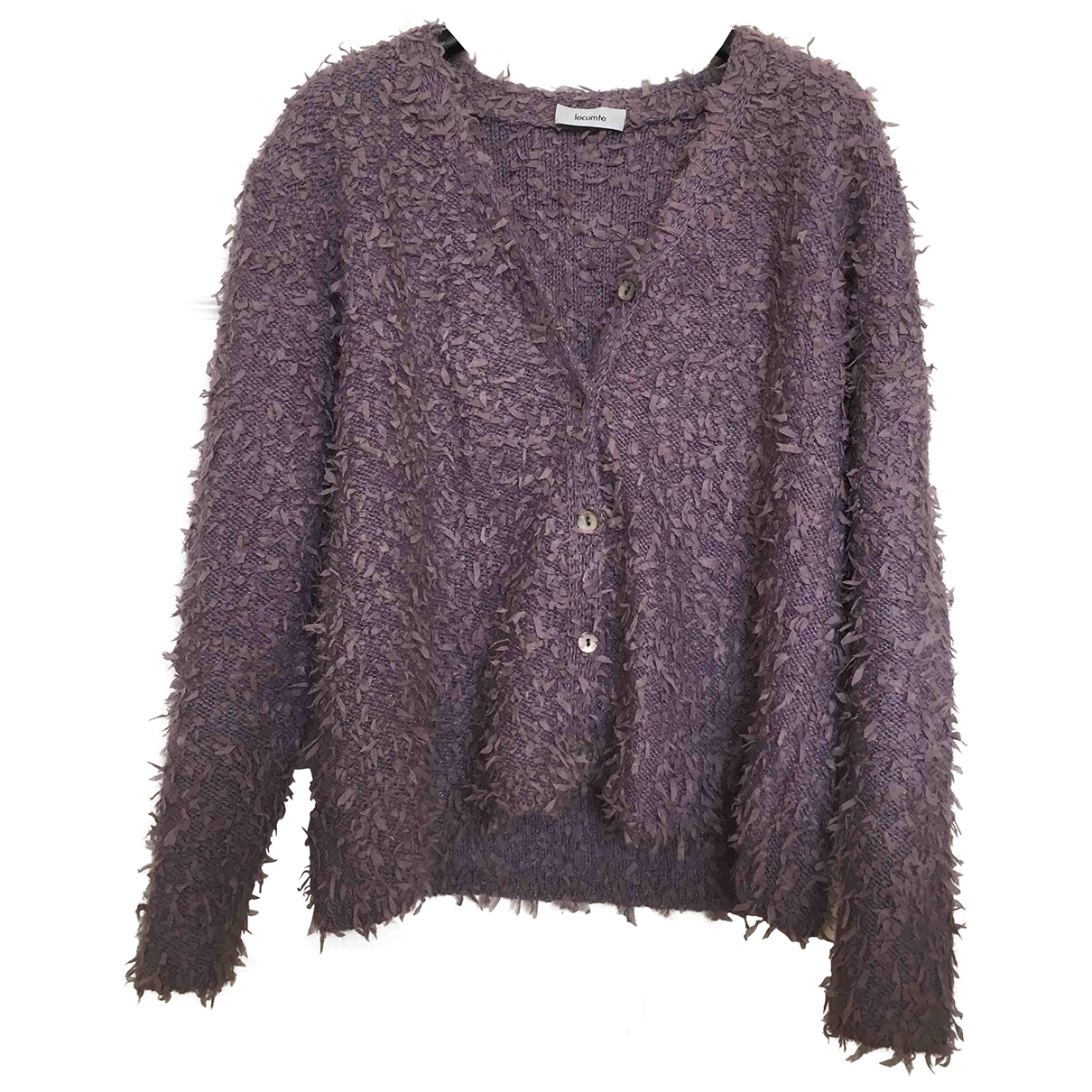 Non Signe / Unsigned Oversize Pullover in  Lila Wolle