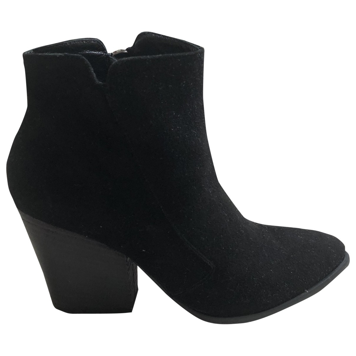 Ash \N Black Suede Ankle boots for Women 36 EU