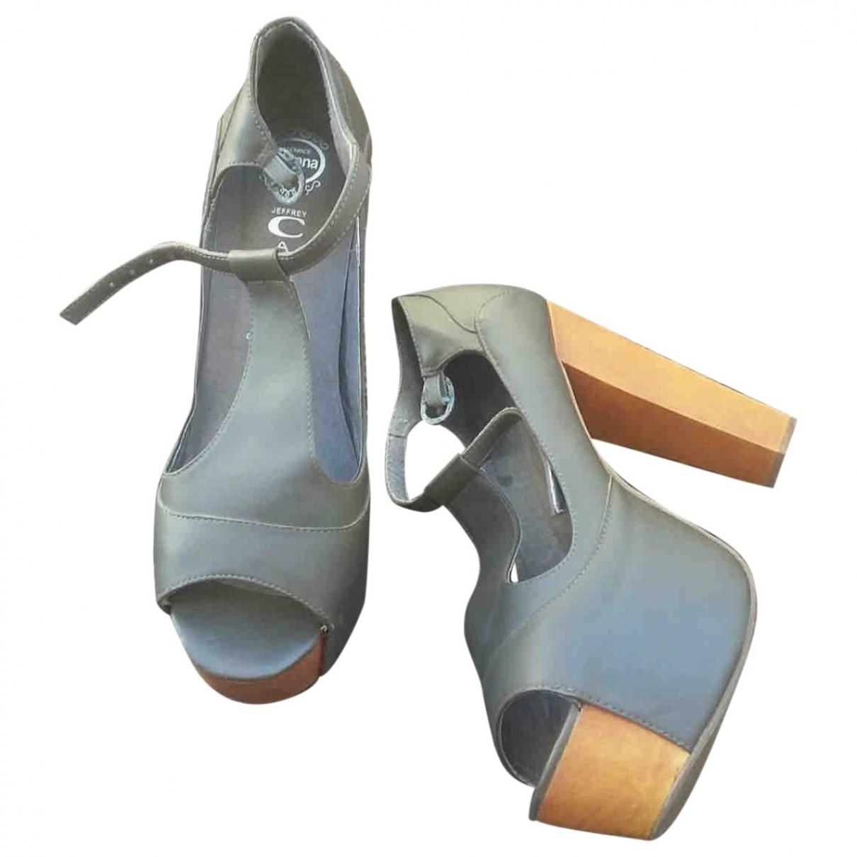 Jeffrey Campbell - Escarpins   pour femme en cuir - gris