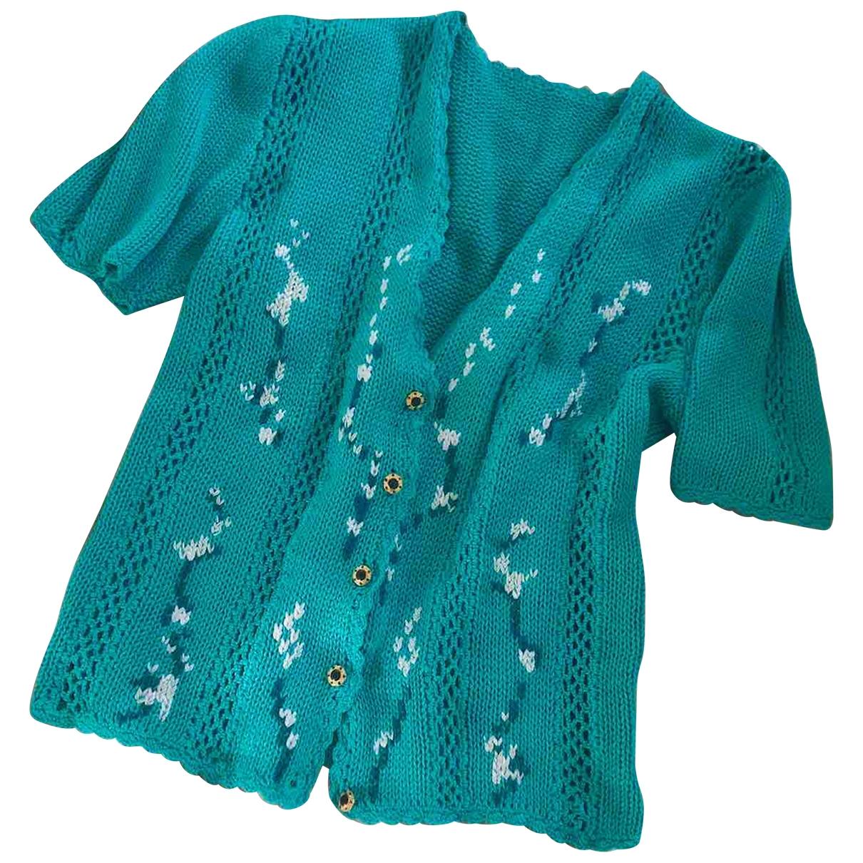 - Pull   pour femme en coton - vert