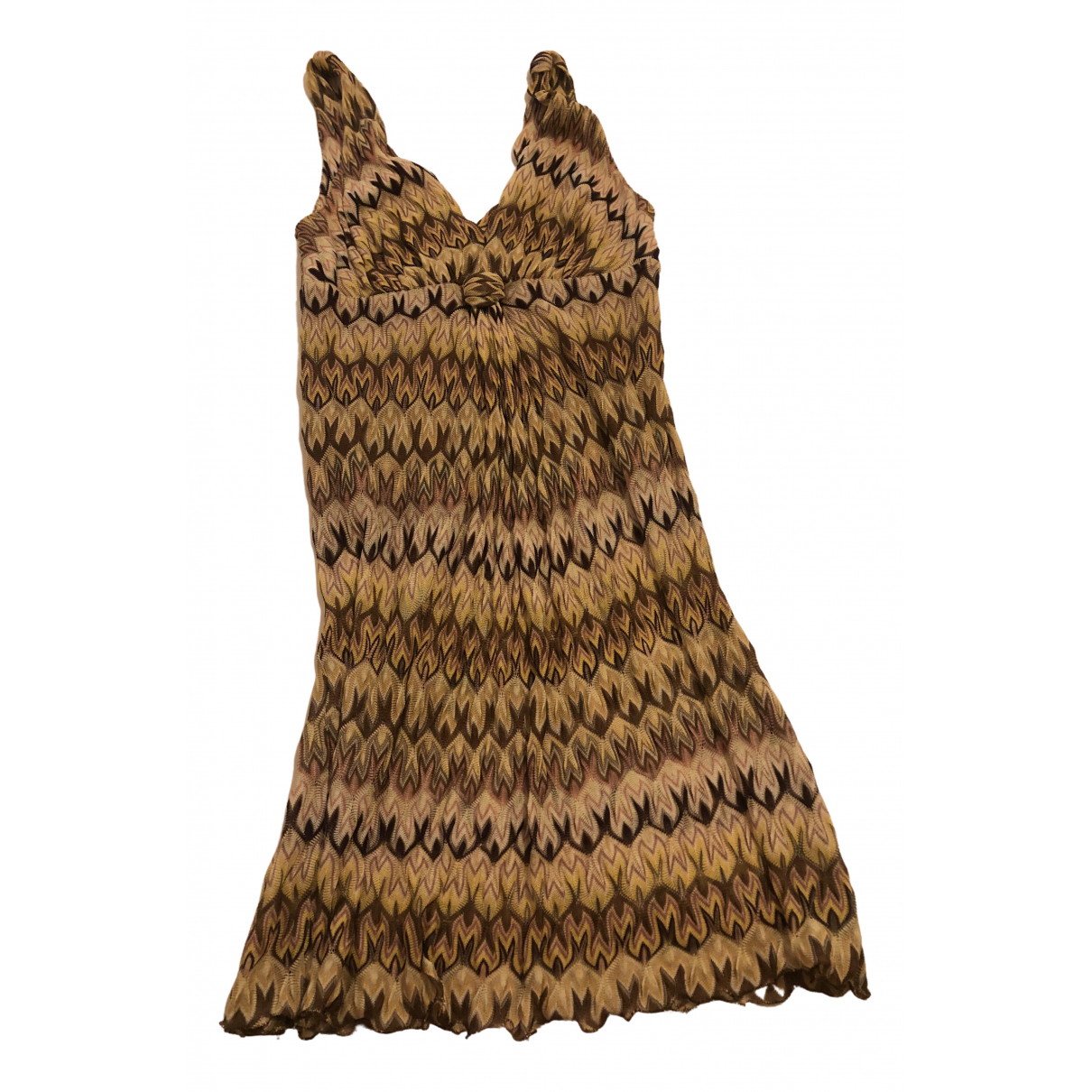 Missoni - Robe   pour femme en coton - elasthane - beige