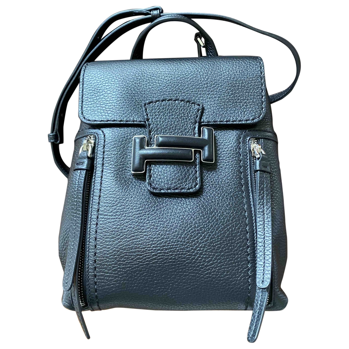 Tod's \N Black Leather backpack for Women \N
