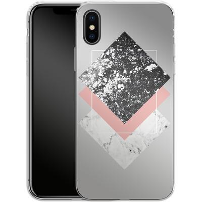 Apple iPhone X Silikon Handyhuelle - Geometric Textures 1 von Mareike Bohmer