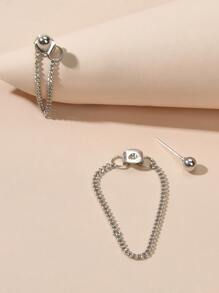 Chain Mismatched Drop Earrings