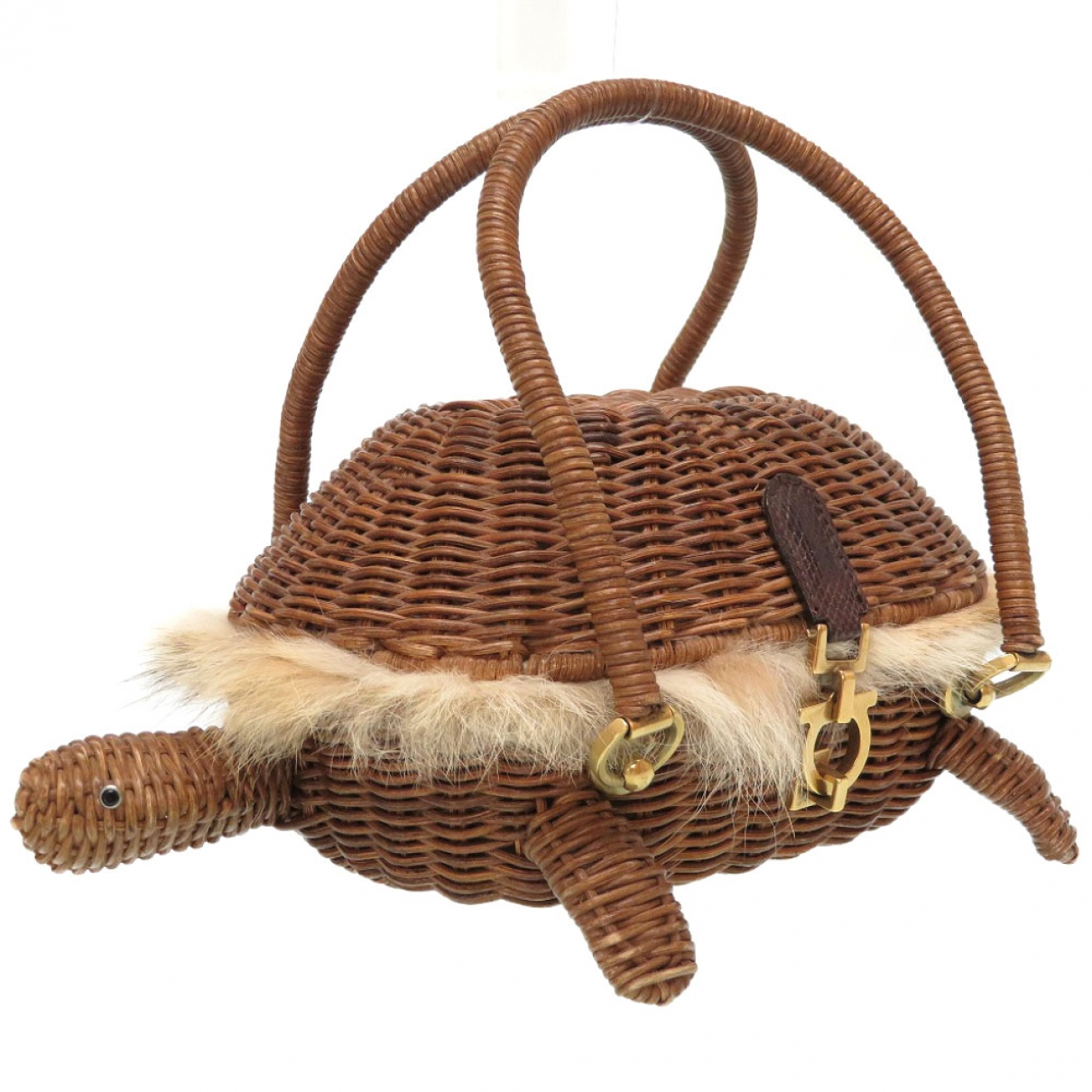 Salvatore Ferragamo \N Brown Fur handbag for Women \N