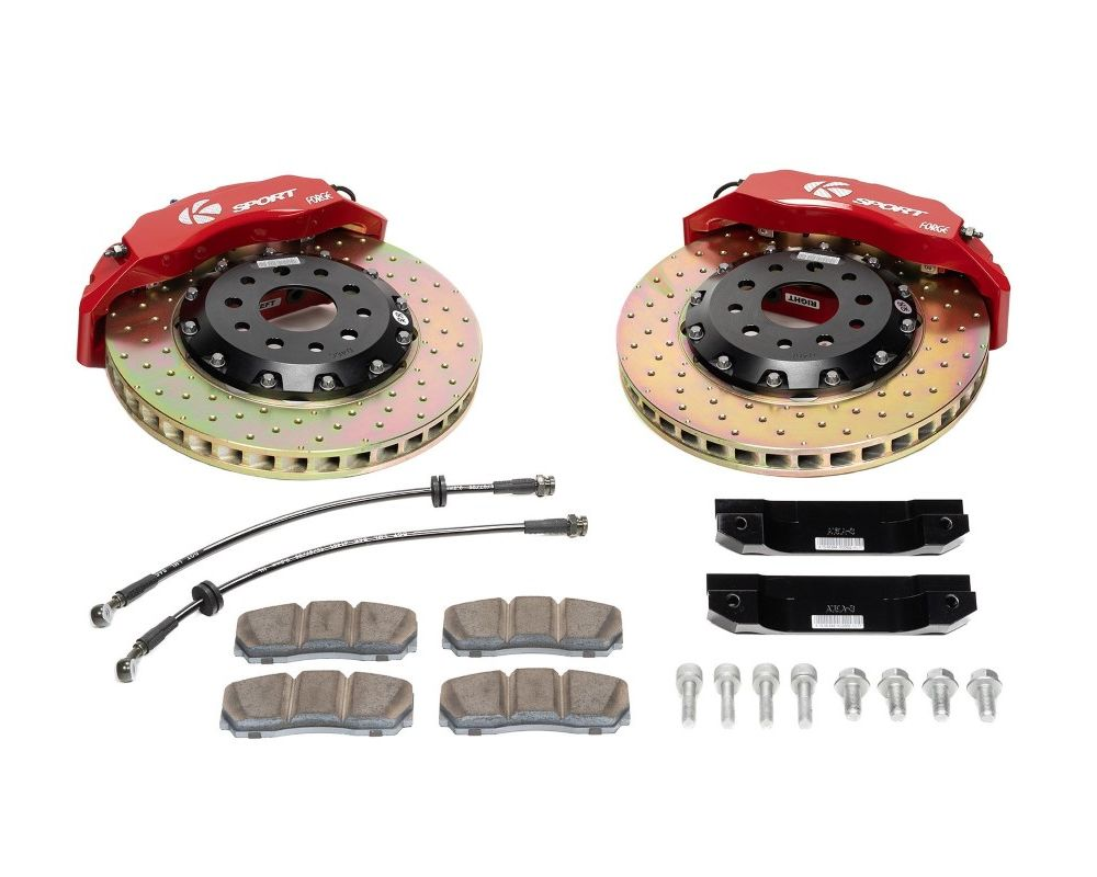 Ksport BKHD170-836CO Supercomp 8 Piston 330mm Front Big Brake Kit - Drilled Honda Prelude 1992-1996