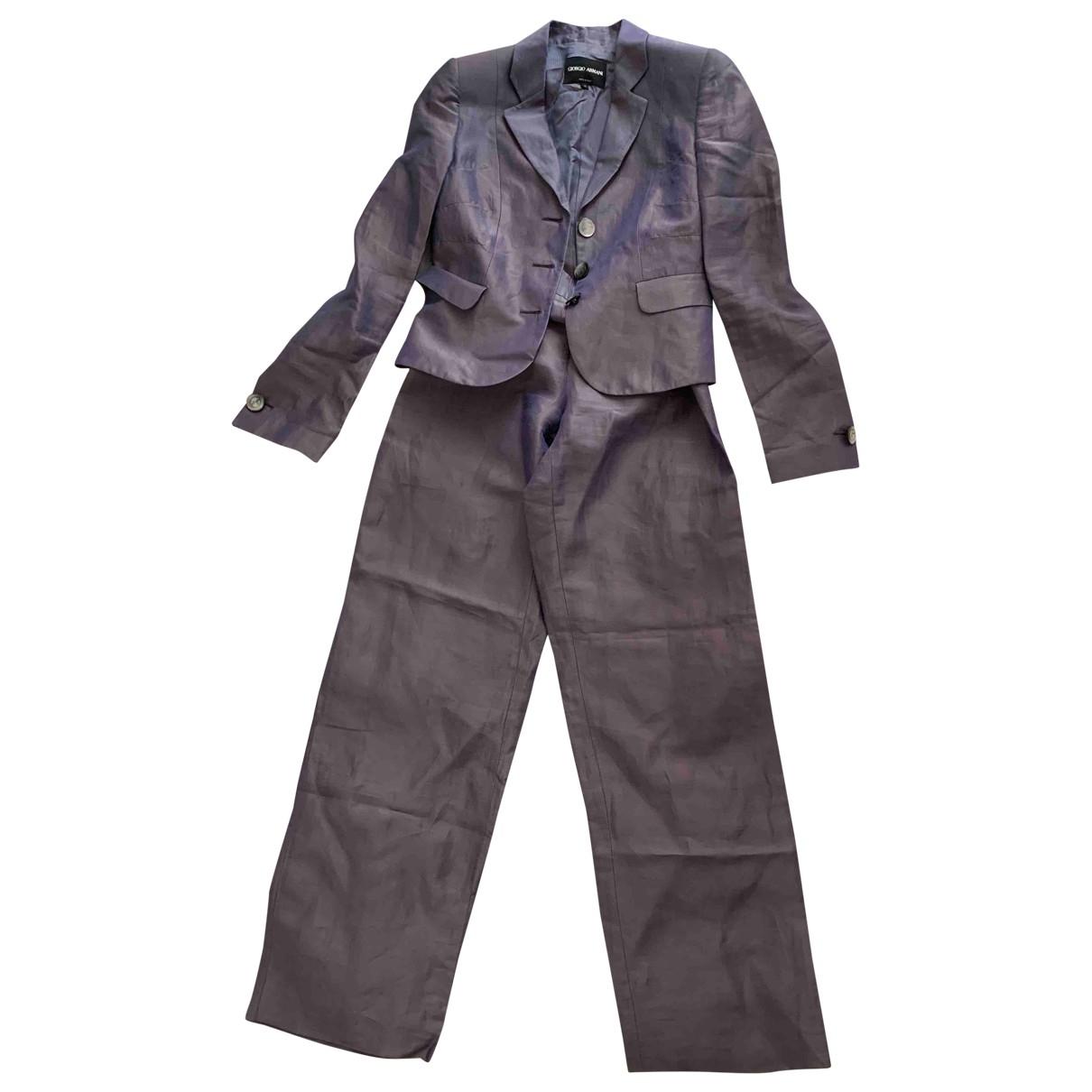 Giorgio Armani \N Grey Silk jumpsuit for Women 42 IT