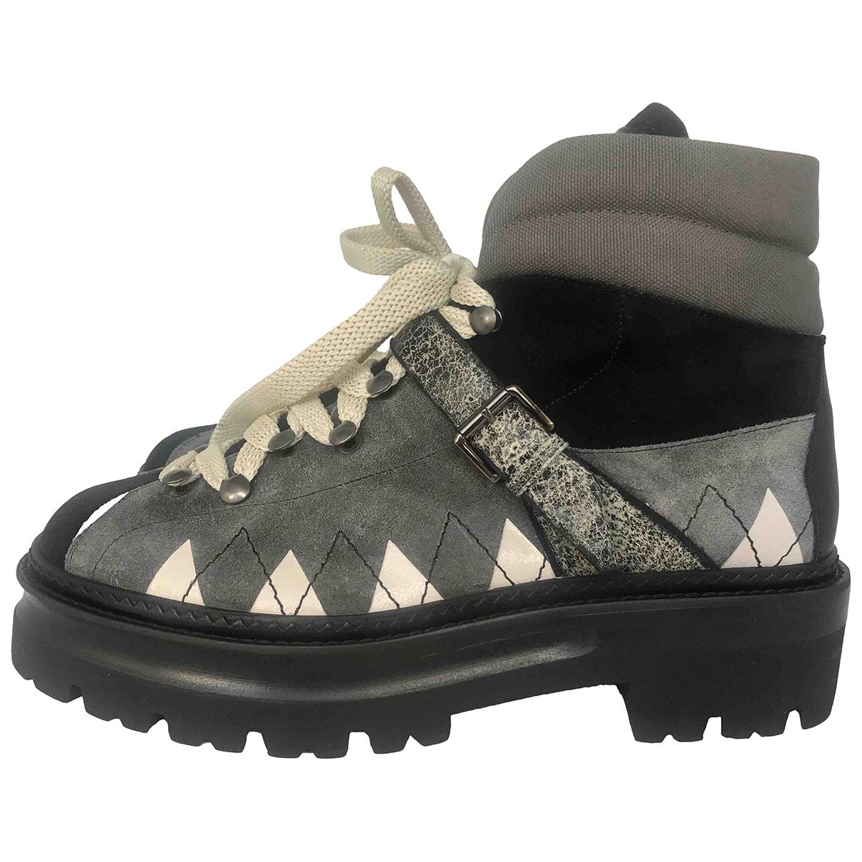 Bally N Multicolour Suede Boots for Women 40 EU