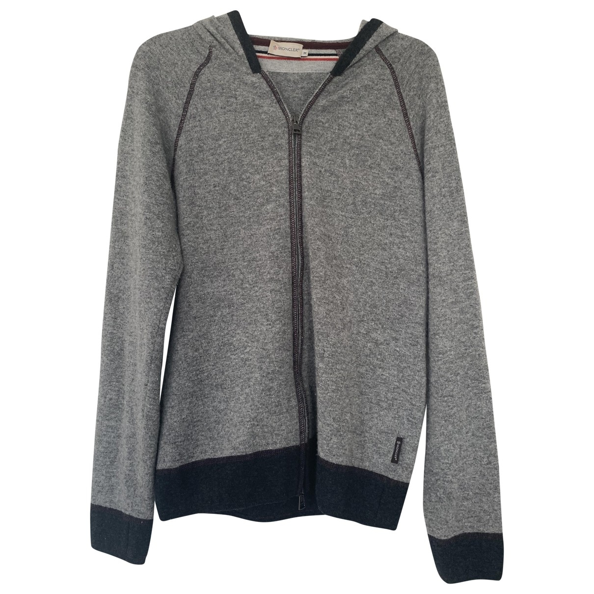 Moncler \N Pullover.Westen.Sweatshirts  in  Grau Kaschmir
