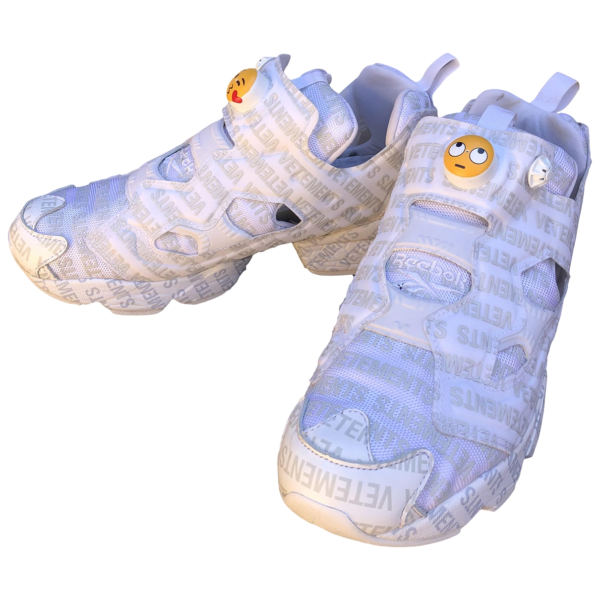 Reebok X Vetements - Baskets   pour homme en toile - blanc