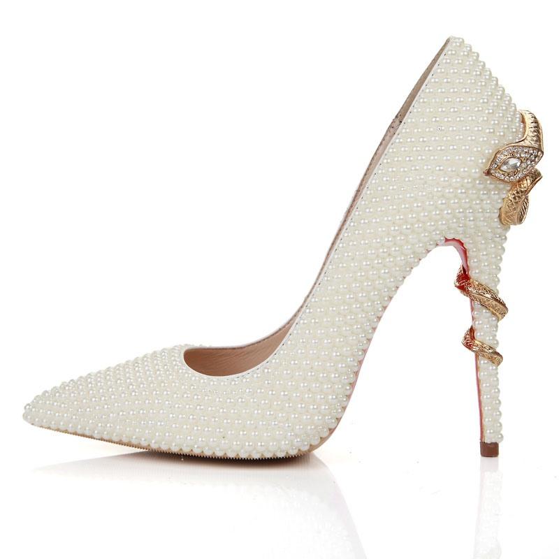 Ericdress Rhinestone Pointed Toe Stiletto Heel Women's Wedding Shoes