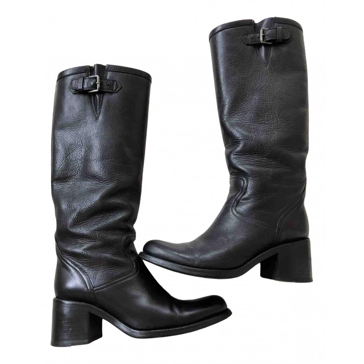 Free Lance - Bottes Geronimo pour femme en cuir - noir