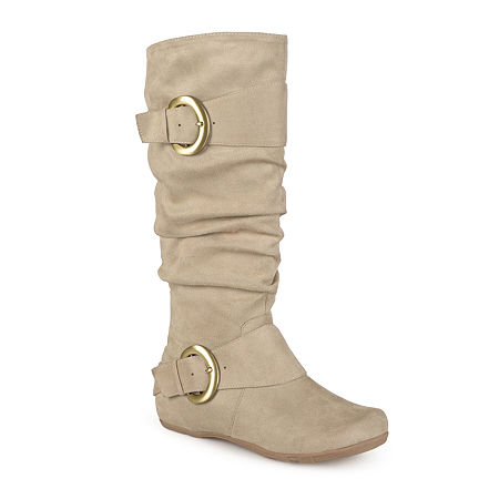 Journee Collection Womens Jester Slouch Boots, 7 1/2 Medium, Beige