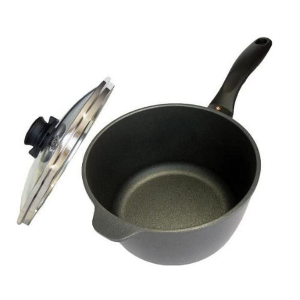 Swiss Diamond 6718C 2.2-Quart Sauce Pan with Lid (7-Inch) (Black)