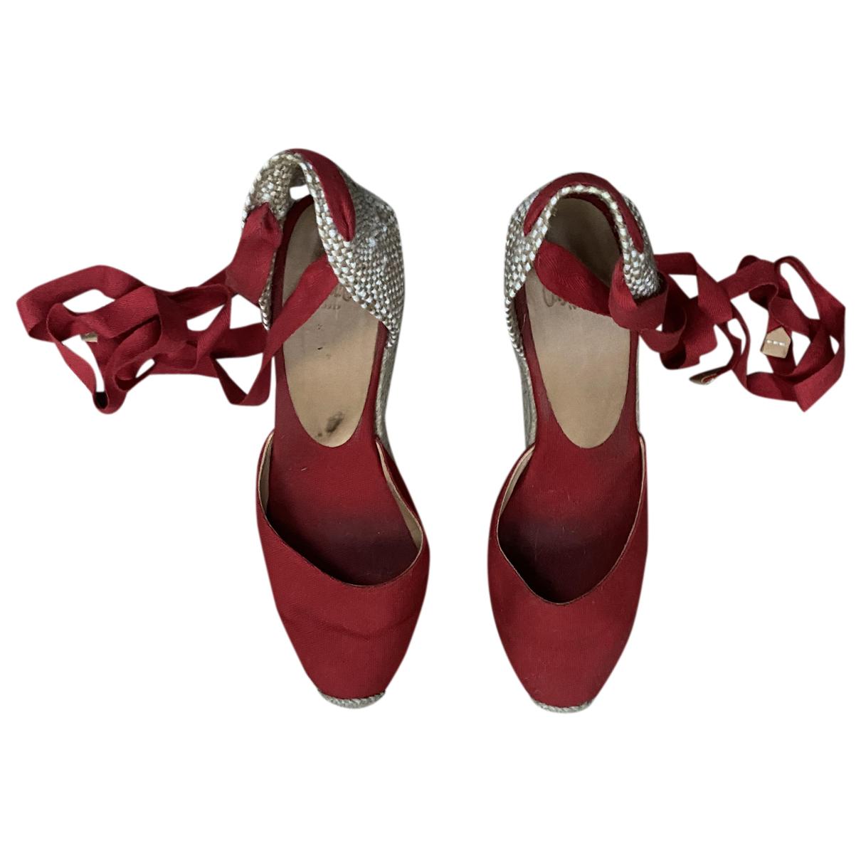 Castaner - Espadrilles   pour femme en toile - rouge