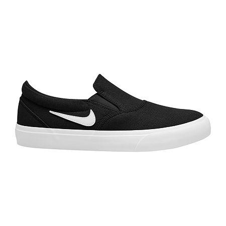 Nike Charge Slip Womens Skate Shoes, 6 1/2 Medium, Black