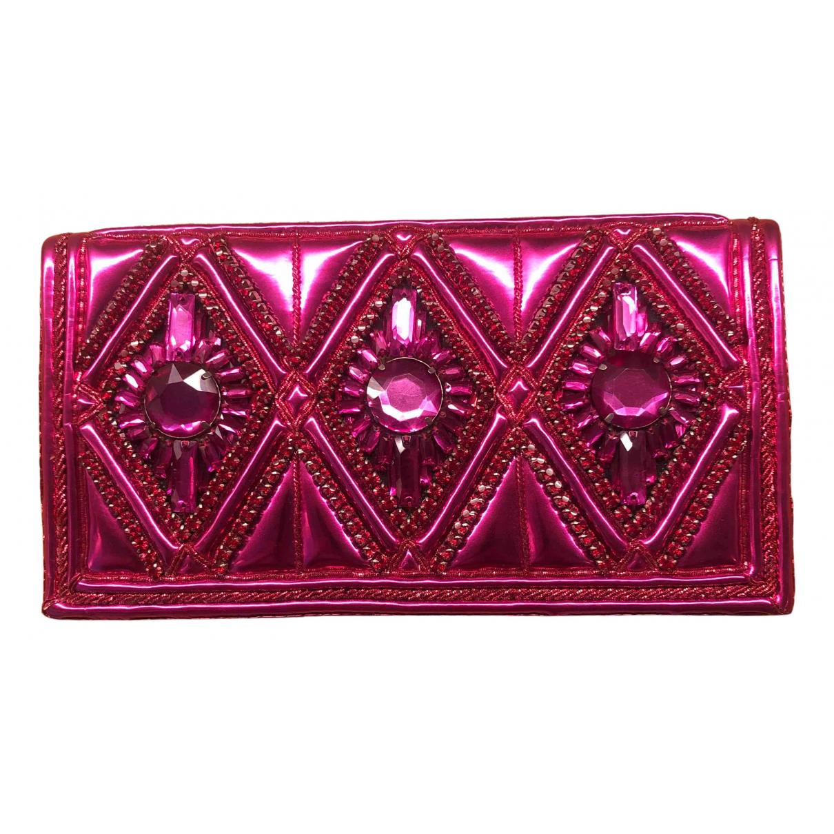 Balmain - Pochette   pour femme en cuir - rose