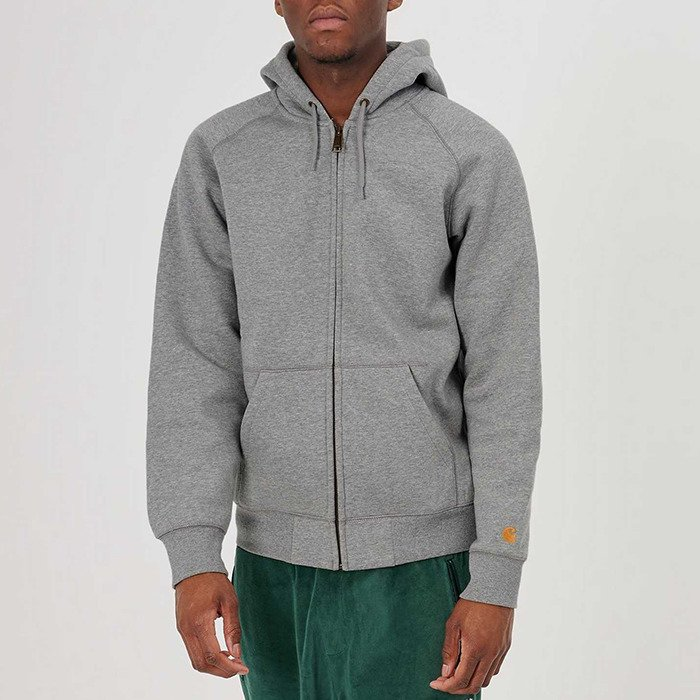 Carhartt WIP Hooded Chase Jacket I026385 GREY HEATHER/GOLD