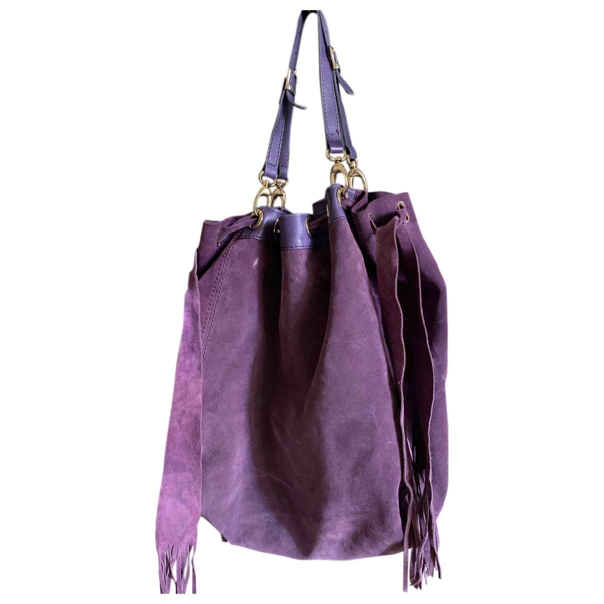 Il Gergo \N Handtasche in  Lila Leder