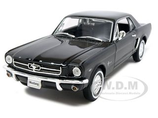 1964 1/2 Ford Mustang Coupe Hard Top Black 1/24-1/27 Diecast Model Car by Welly
