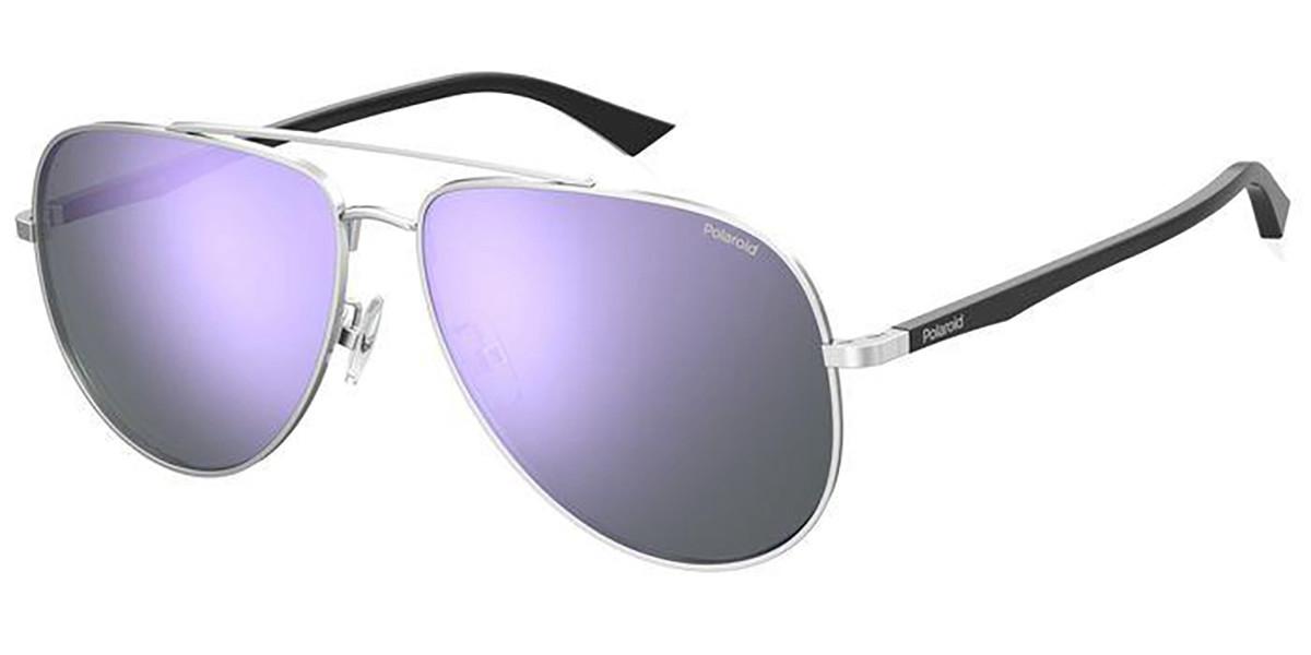 Polaroid PLD 2105/G/S 010/MF Men's Sunglasses Silver Size 62