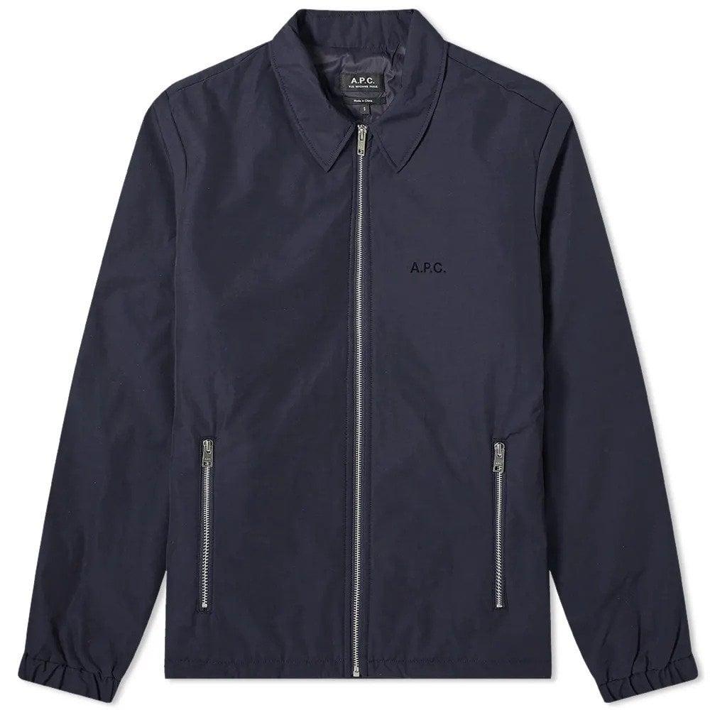 A.P.C Leon Harrington Jacket Colour: NAVY, Size: MEDIUM