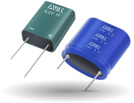 AVX 1F Supercapacitor 0/+100% Tolerance, SCM 4.2 V dc, 5 V dc, Through Hole (270)