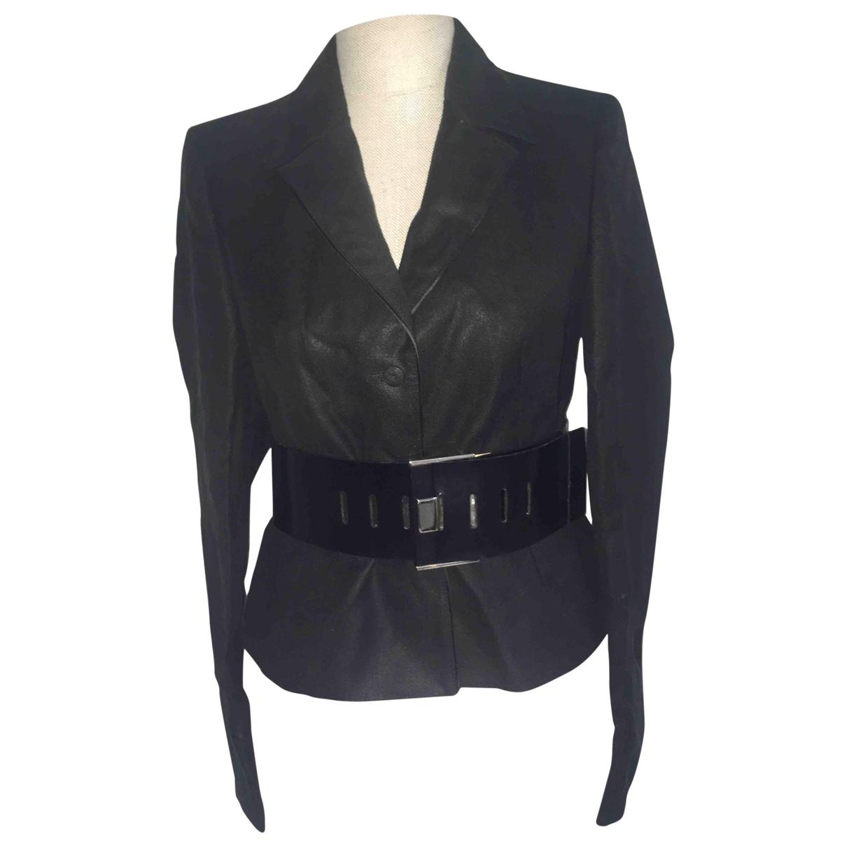 Versace \N Jacke in  Schwarz Leinen