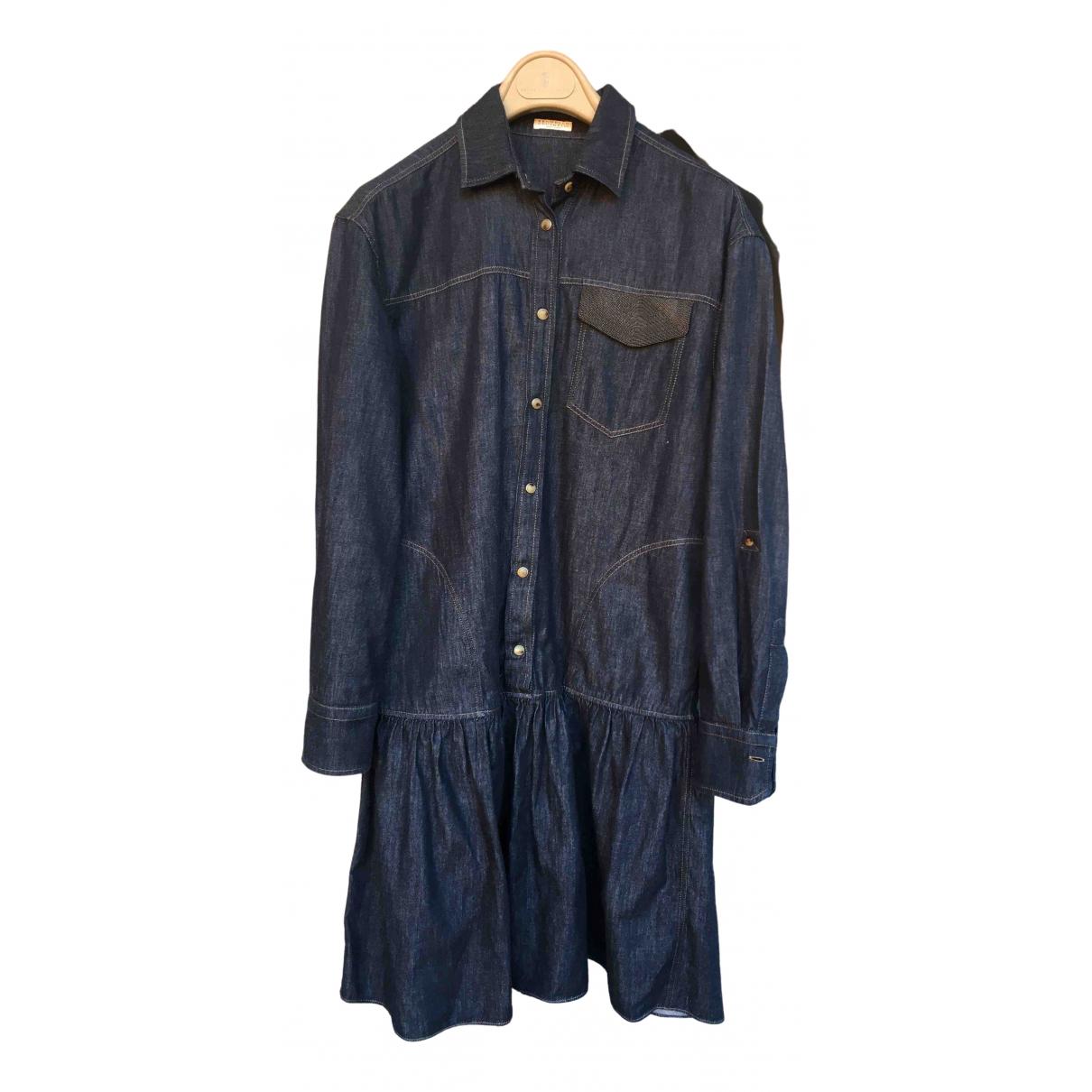 Brunello Cucinelli \N Blue Denim - Jeans dress for Women M International