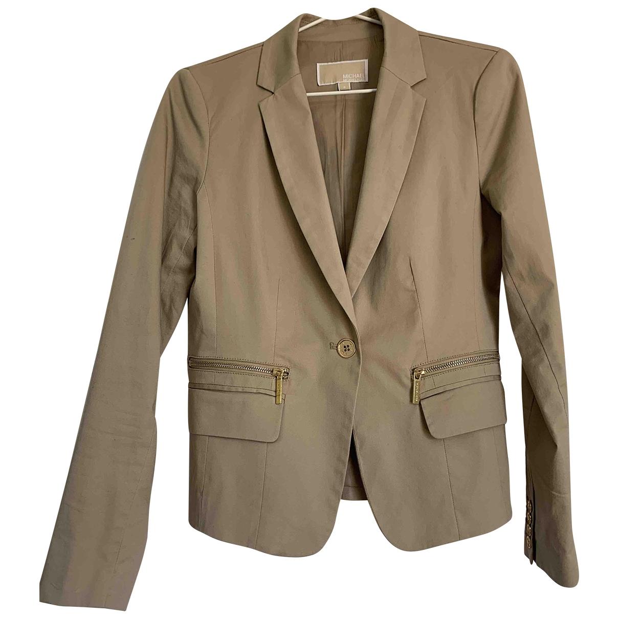 Michael Kors \N Beige Cotton jacket for Women 40 FR