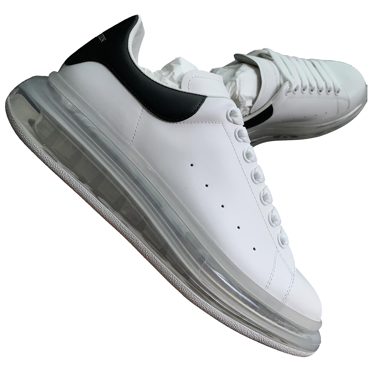 Alexander Mcqueen \N White Leather Trainers for Men 42 EU