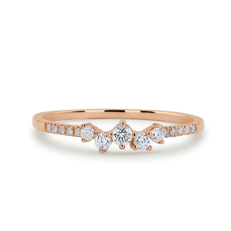 Ericdress Diamante Romantic Birthday Rings